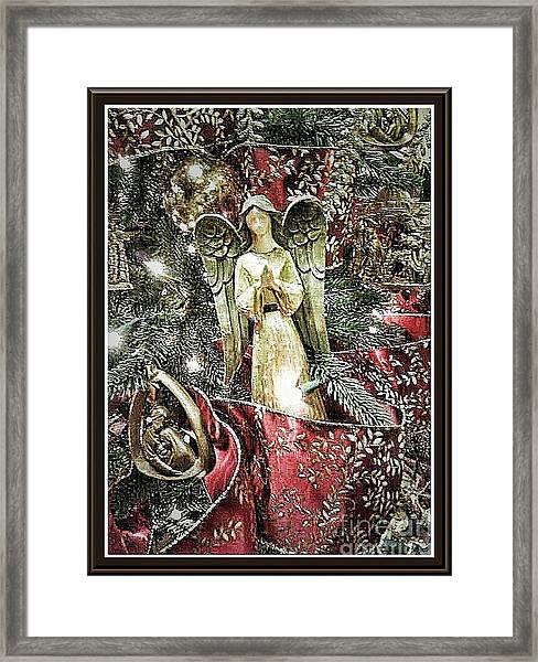 Christmas Angel Greeting Framed Print
