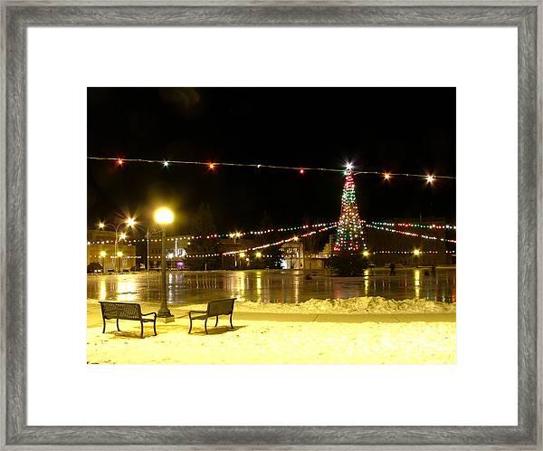 Christmas At The Anaconda Commons Framed Print