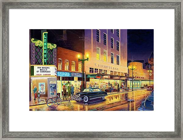 Christmas Corner Framed Print
