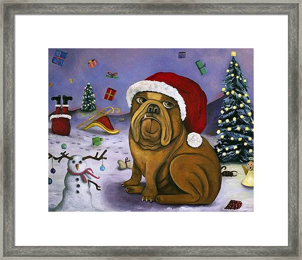 Christmas Crash Framed Print