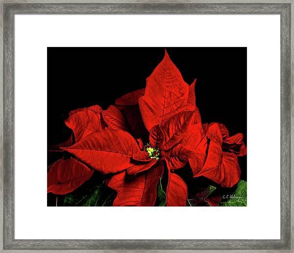 Christmas Fire Framed Print