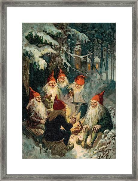 Christmas Gnomes Framed Print
