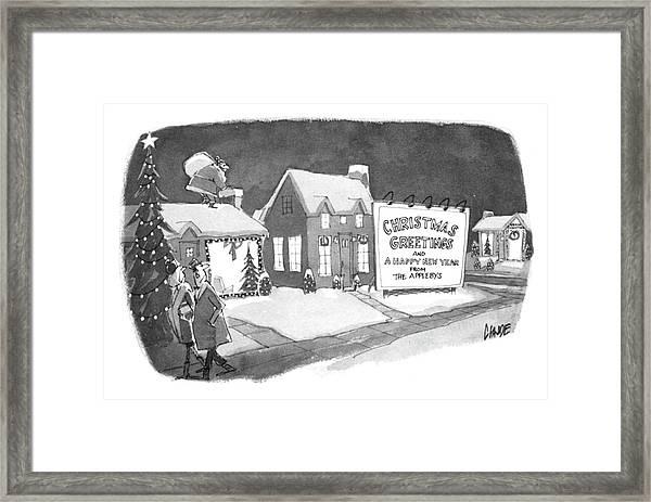 Christmas Greetings From The Applebys Framed Print