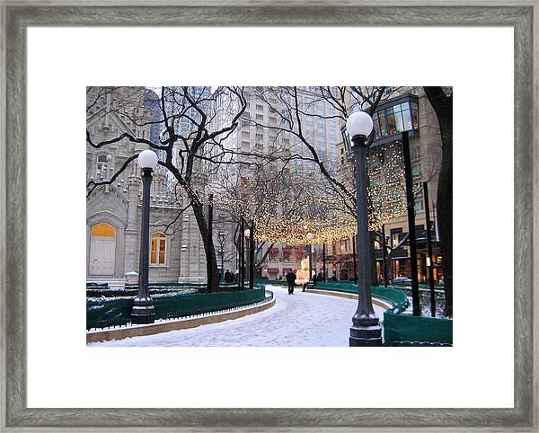 Christmas In Chicago Framed Print