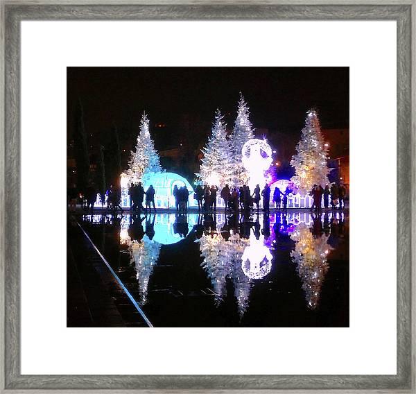 Christmas In Nizza, Southern France Framed Print