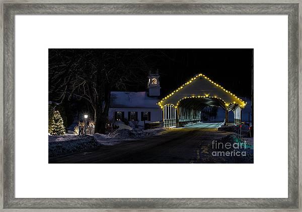 Christmas In Stark New Hampshire Framed Print