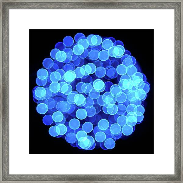 Christmas Lights Illuminate Our Cities Framed Print