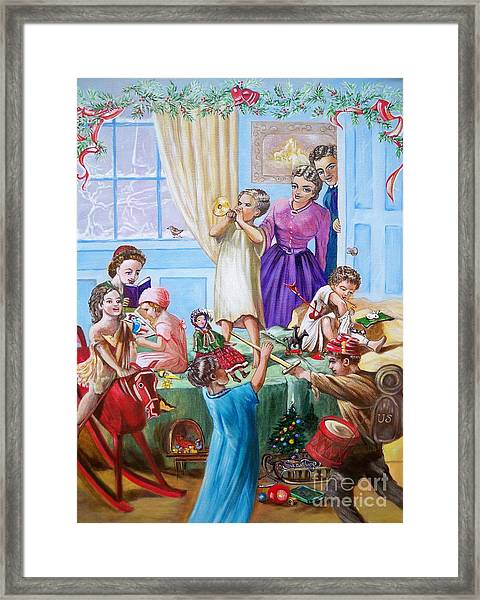 American History  We Say Merry  Christmas  Because It Is Christmas  Framed Print