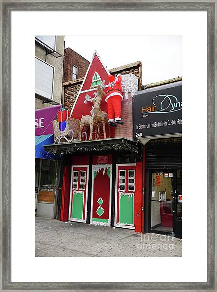 Christmas On Sherman Avenue  Framed Print