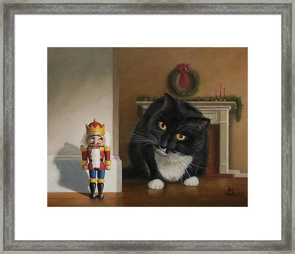 Christmas Stalking Framed Print