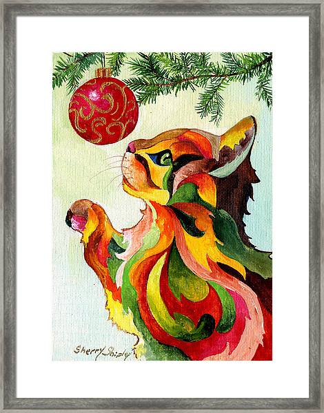 Christmas Tempation Framed Print