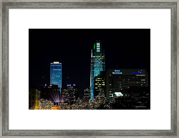 Christmas Time In Omaha Framed Print