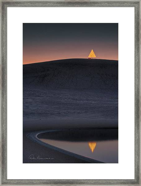 Christmas Tree On Jockey's Ridge 6970 Framed Print