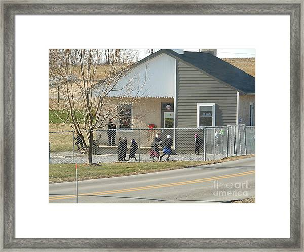 Christmastime At The Schoolhouse Framed Print