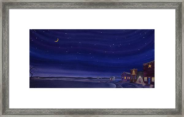 Christmastime In Prairie Town Framed Print