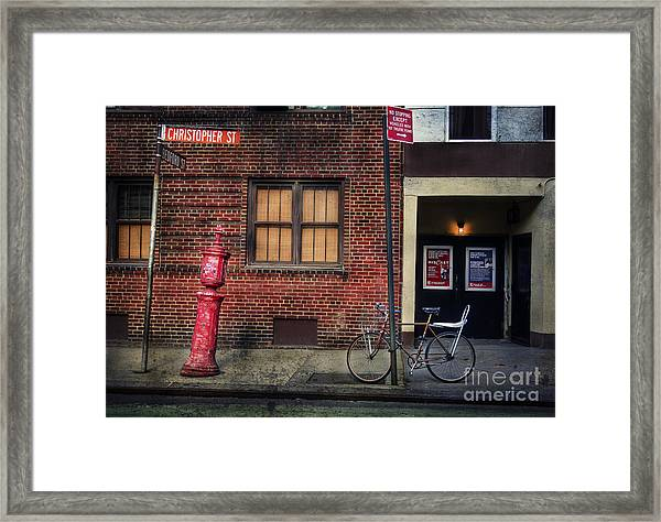 Christopher St. Bicycle Framed Print