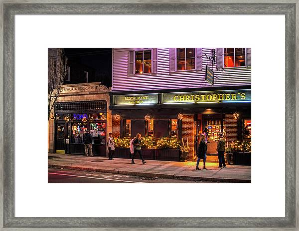 Christopher's And The Toad Cambridge Ma Porter Square Framed Print