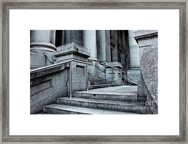 Chrome Balustrade Framed Print