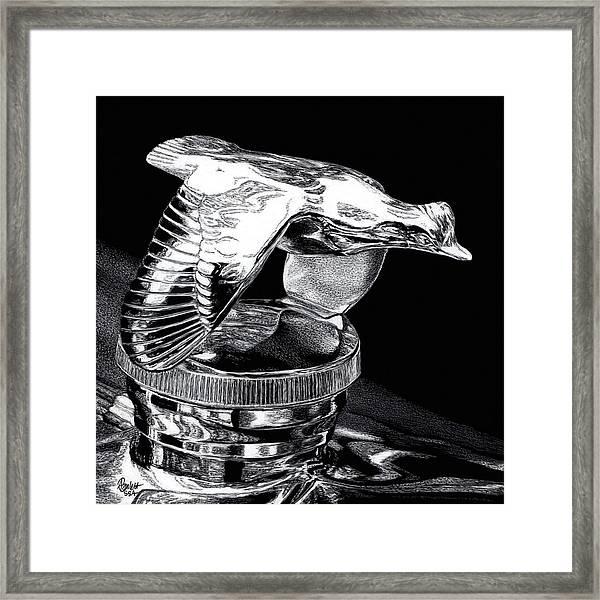 Chrome In Flight Framed Print