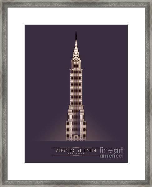 Chrysler Building - Vintage Dark Framed Print