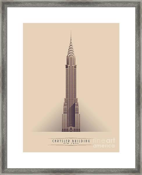 Chrysler Building - Vintage Light Framed Print