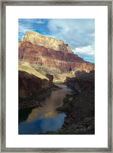 Chuar Butte Colorado River Grand Canyon Framed Print