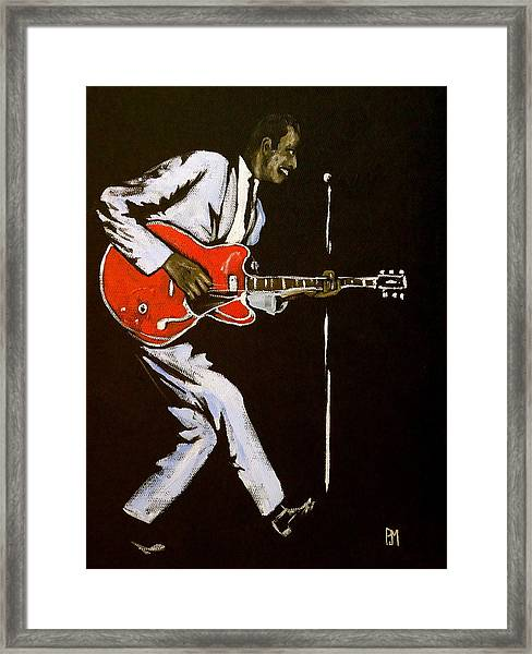 Chuck Berry Framed Print by Pete Maier