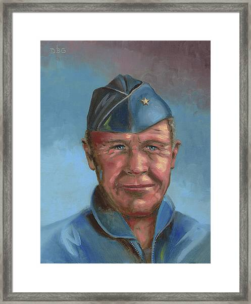 Chuck Yeager Framed Print