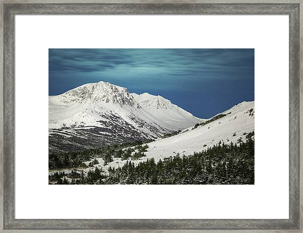 Chugach Night Framed Print