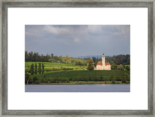 Church Birnau Lake Constance In Great Landscape Framed Print