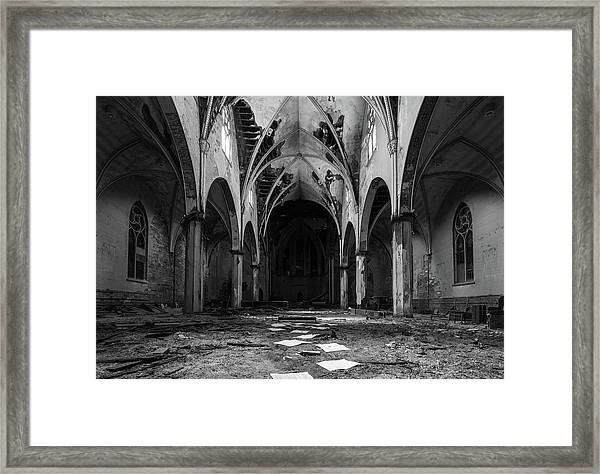 Church In Black And White Framed Print