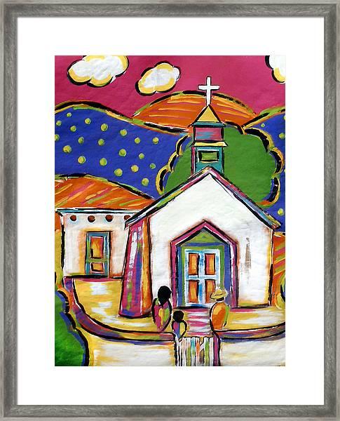 Church In Blanco Framed Print