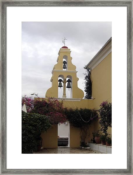 Church In Corfu Framed Print