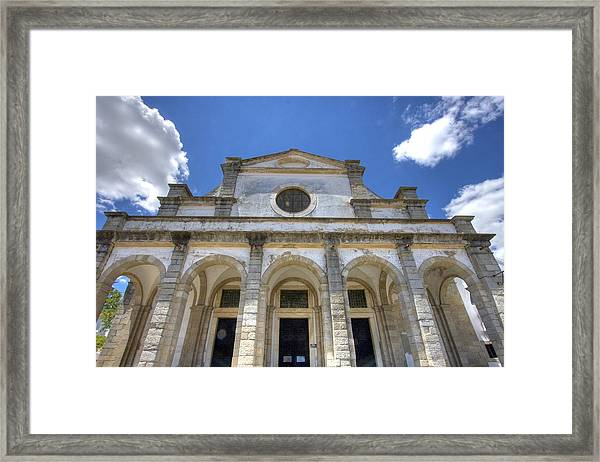 Church In Evora Framed Print by Andre Goncalves