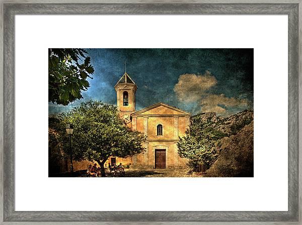 Church In Peillon Framed Print