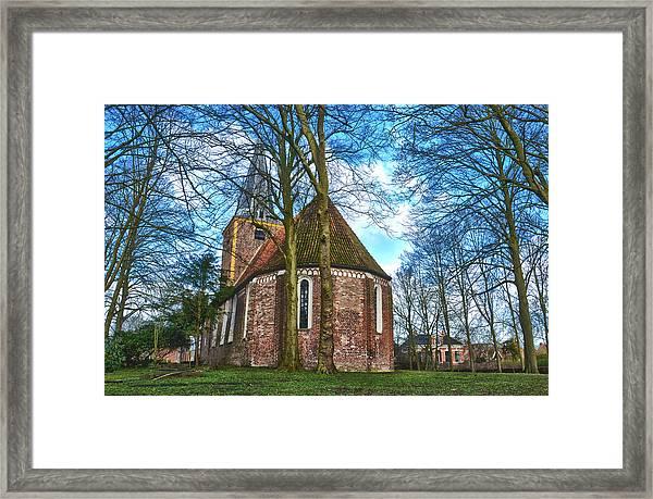 Church In Winsum Framed Print