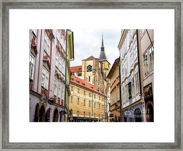 Church Of Saint Giles In Prague Framed Print by John Rizzuto