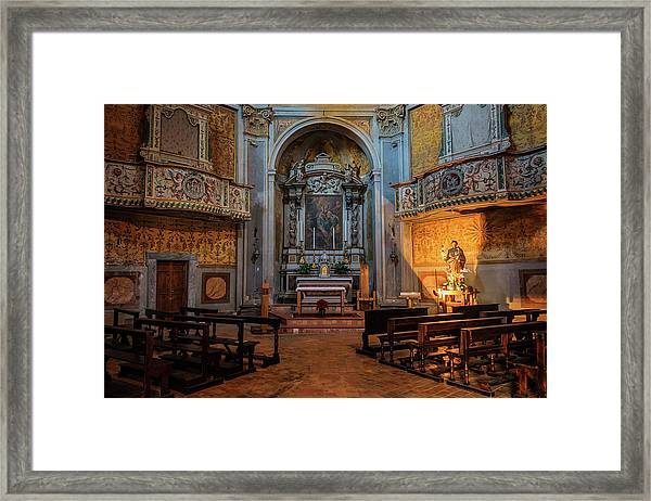 Church Of San Giuseppe Del Duomo Orvieto Italy Framed Print