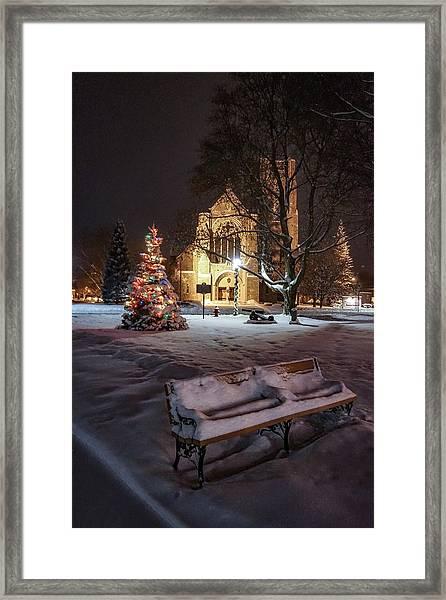 Church Of St Mary St Paul At Christmas Framed Print