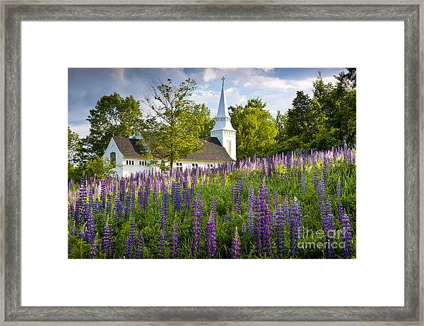 Framed Print featuring the photograph Church On Sugar Hill by Susan Cole Kelly