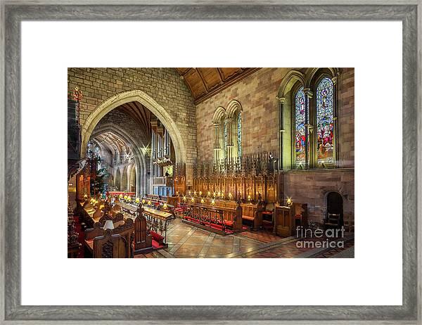 Church Organist Framed Print