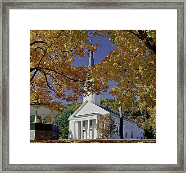Church, Sharon Vermont Framed Print