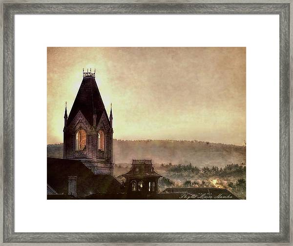 Church Steeple 4 For Cup Framed Print