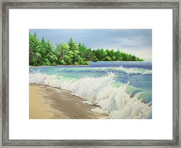 Churning Sand  Framed Print