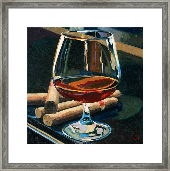 Cigars And Brandy Framed Print