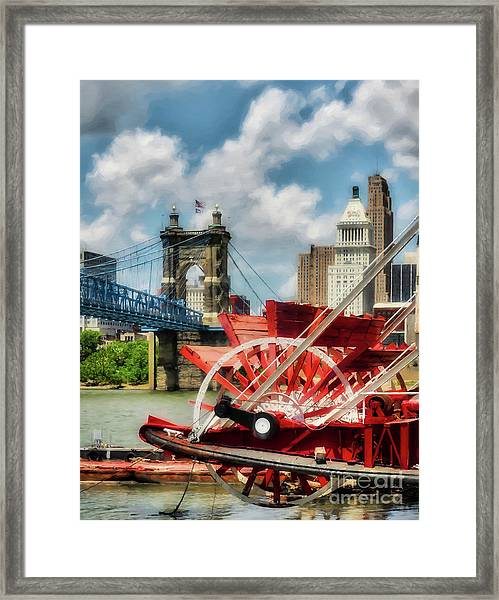 Framed Print featuring the photograph Cincinnati Landmarks 1 by Mel Steinhauer