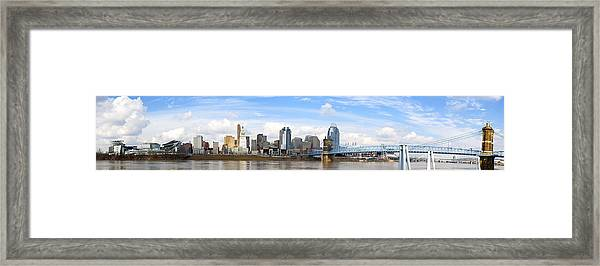 Cincinnati Panorama Framed Print