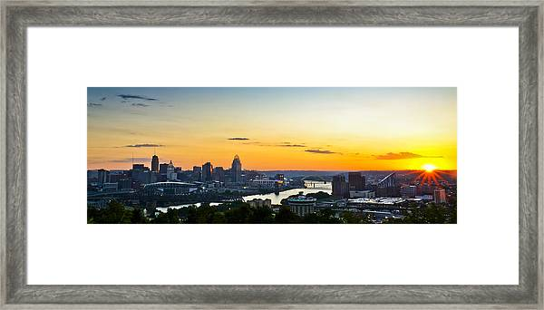Cincinnati Sunrise II Framed Print