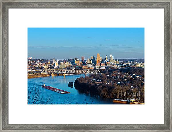 Cincinnati View From The West Framed Print