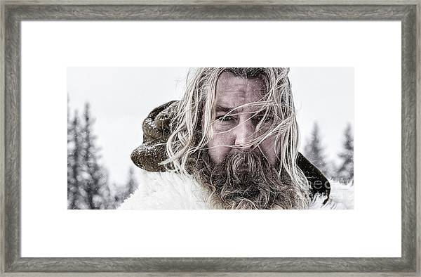Cinematic Portrait Framed Print